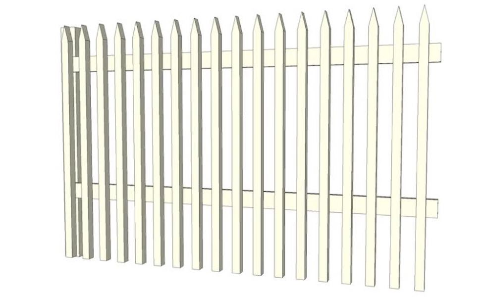 Free plans to build a Picket Fence.
