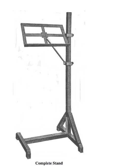 Free plans to build a Music Stand and Book Rack.
