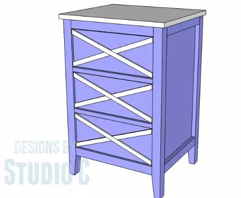 Build a Bedside Table with storage.