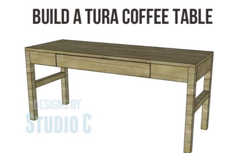 Coffee Table With A Drawer