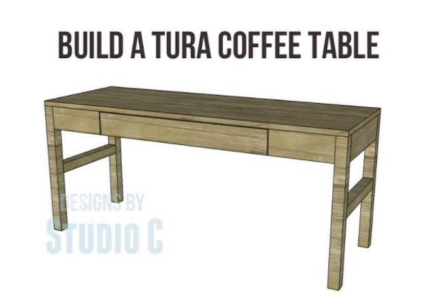 Free plans to build a Coffee Table With A Drawer.