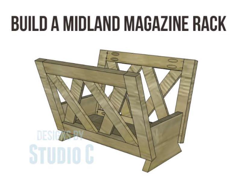 Build this Magazine Rack by Studio C.