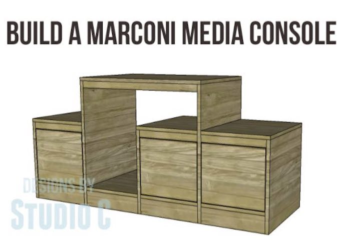 Build a Modular Style Media Console using free plans.