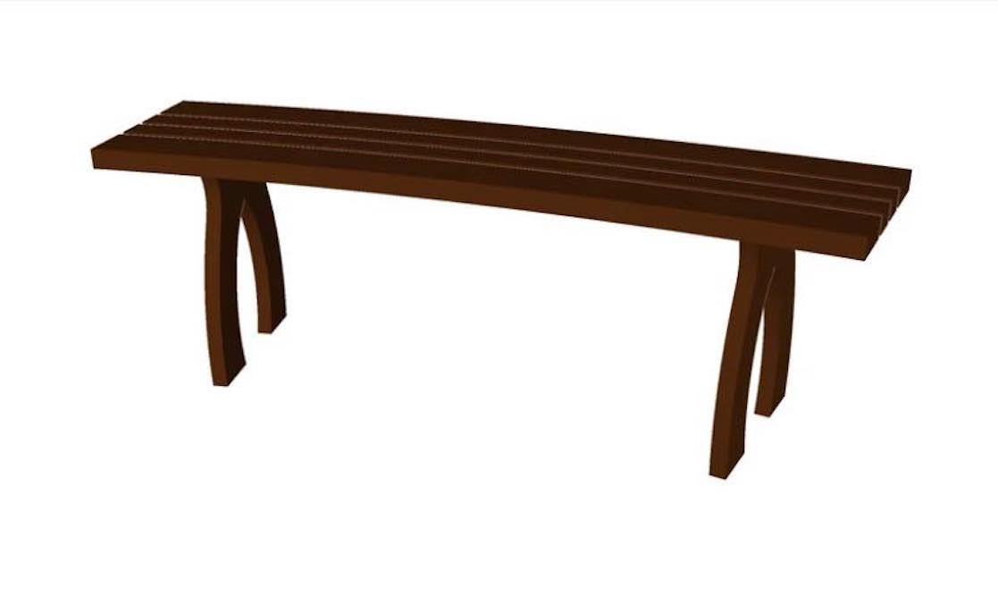 Free plans to build a Curved Outdoor Bench.