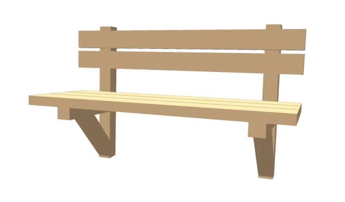 Free plans to build a Trail Bench.