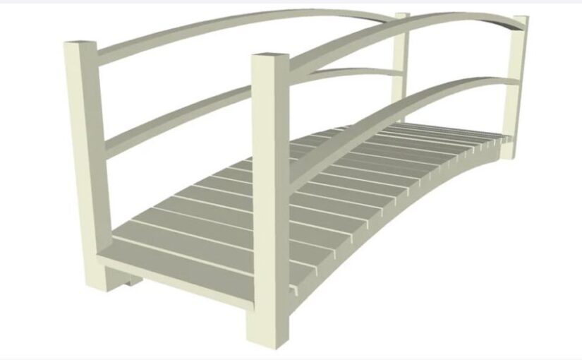 Wooden Pedestrian Bridge SketchUp