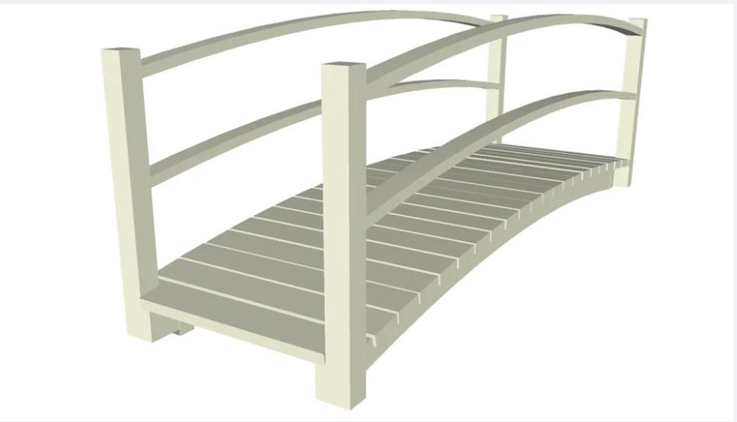 Free plans to build a Wooden Pedestrian Bridge
