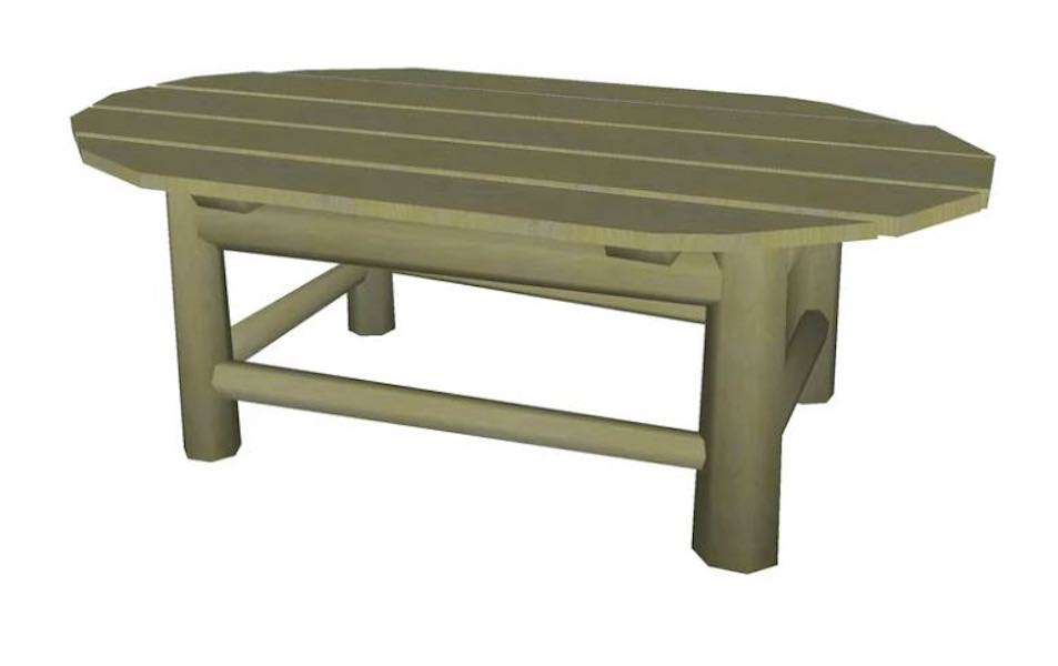 Free plans to build a Patio Coffee Table.