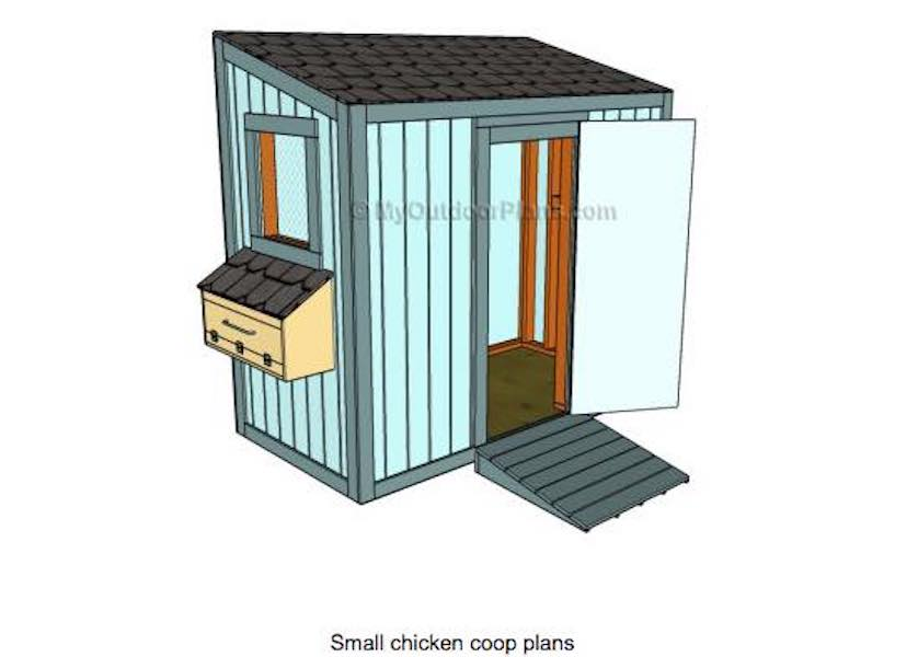 Learn to build a Chicken Coop Small.