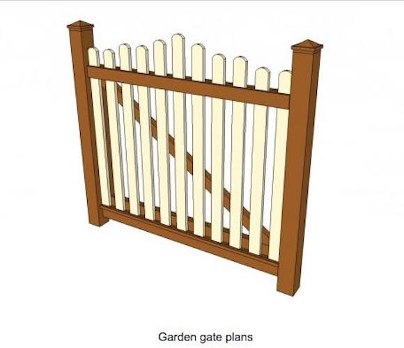 Free plans to build a garden gate.