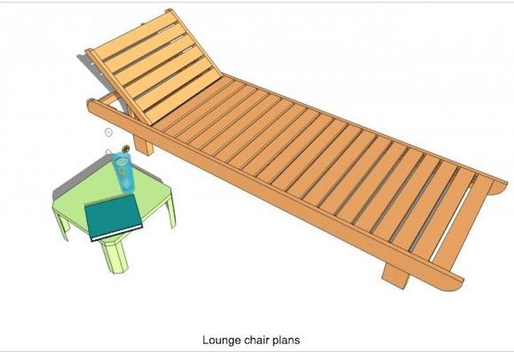 Free plans to build My Outdoor Lounge Chair.