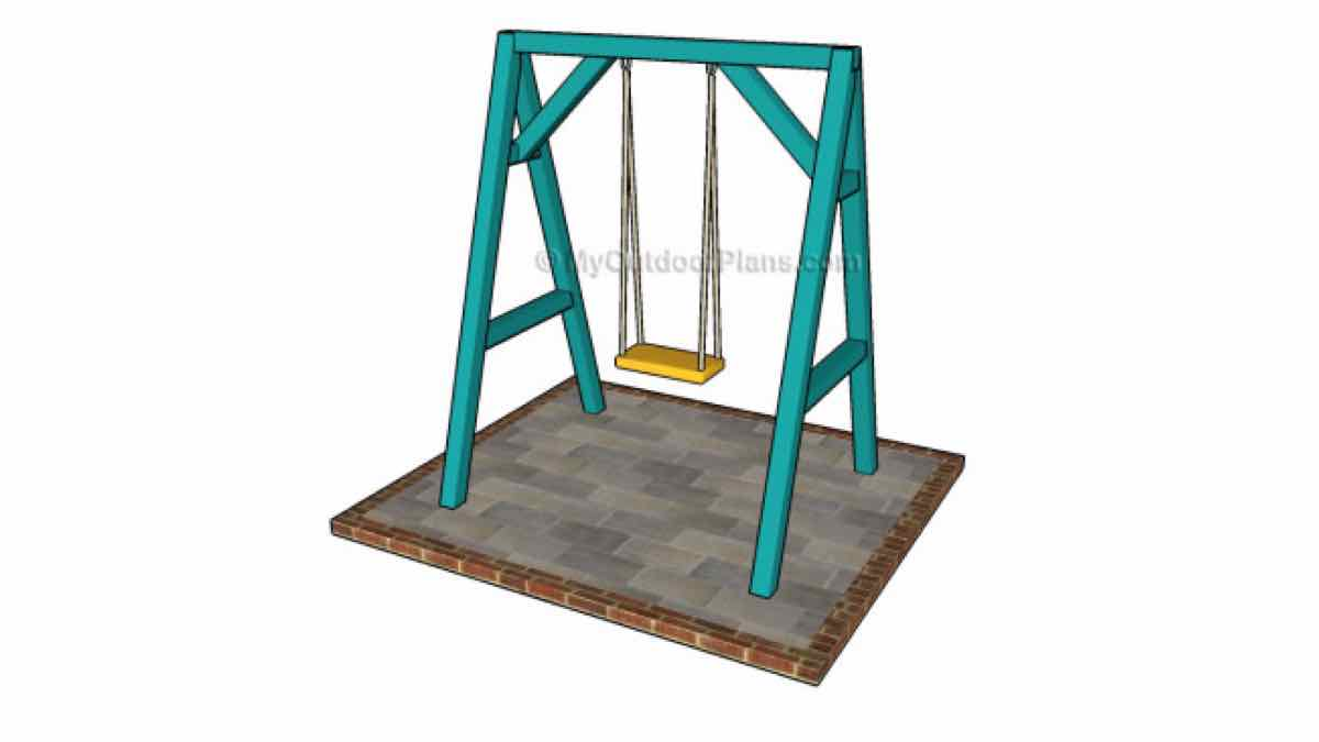 swings,childrens,diy,free woodworking plans,free projects,do it yourself,kids,outdoors,childs