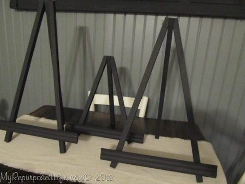 Build a few Small Display Easels using free plans.