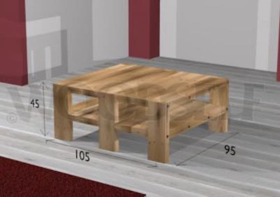 Build a Customizable Coffee Table using free plans.