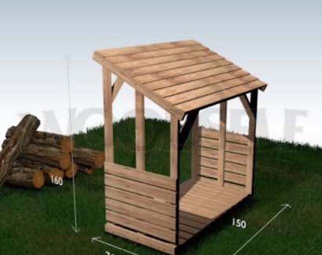 Customizable Firewood Shelter