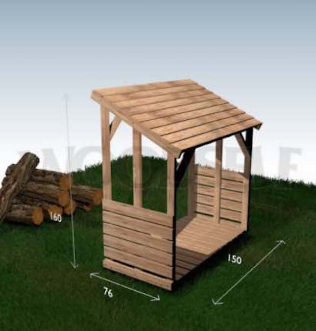 Free plans to build a Firewood Shelter.