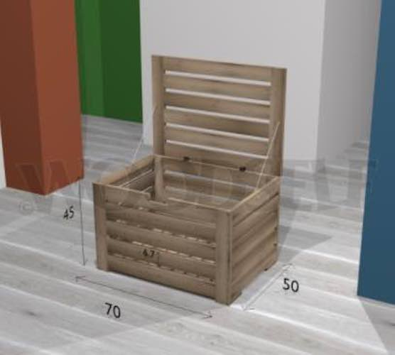 Use these free plans to build a toy box.