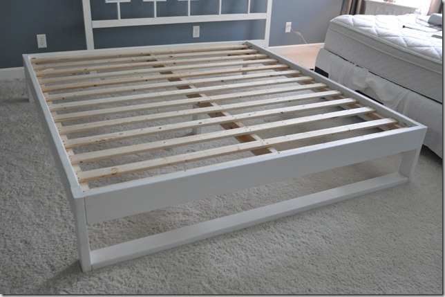 Build Any Size Bed Frame with free plans.