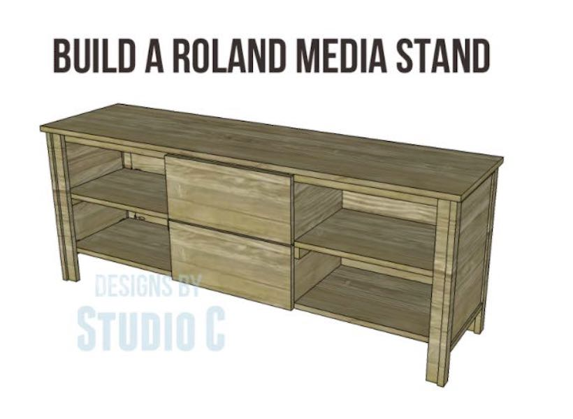 Free plans to build a Roland Media Stand.