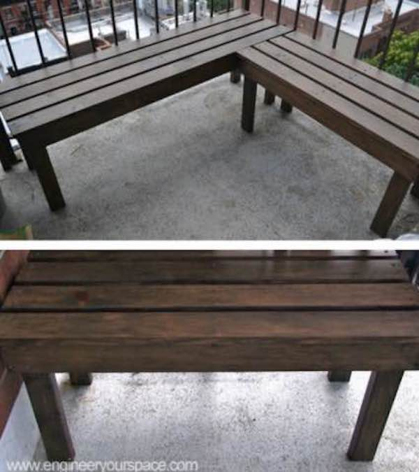 Free plans to build a Corner Bench.