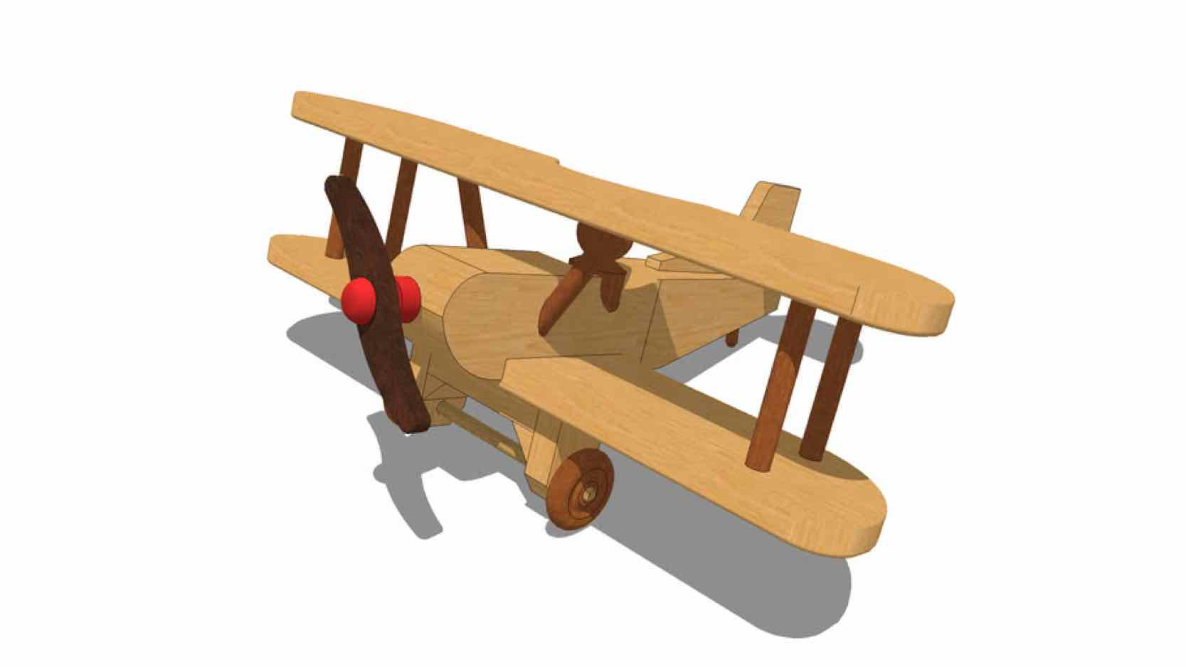 biplane,airplane,diy,free woodworking plans,free projects,do it yourself,toys,wooden toys