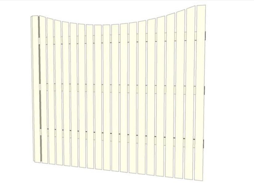Build an Arched Down Picket Fence using free plans.