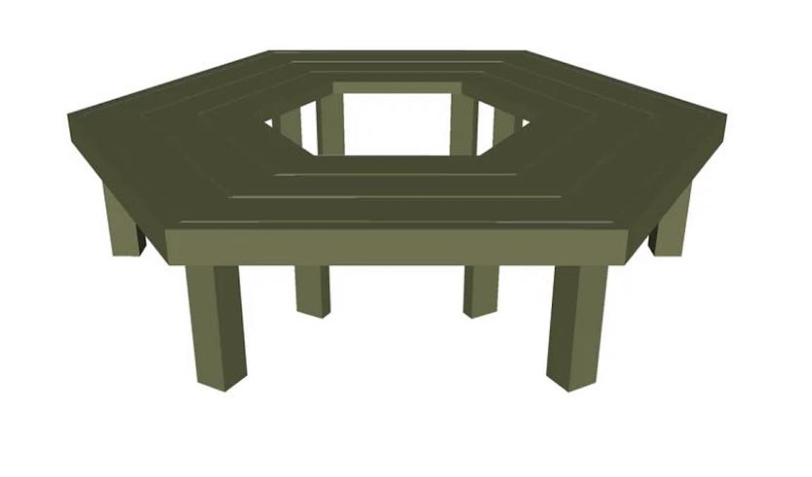 Free plans to build a Tree Bench.