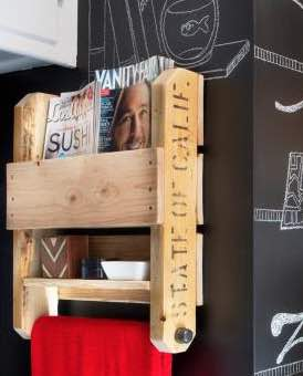 Learn to build Bathroom Shelves from Pallets.