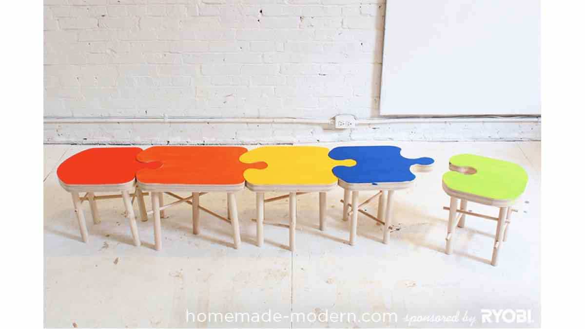 stools,puzzle stools,diy,free woodworking plans,free projects,do it yourself,childrens,childs,kids