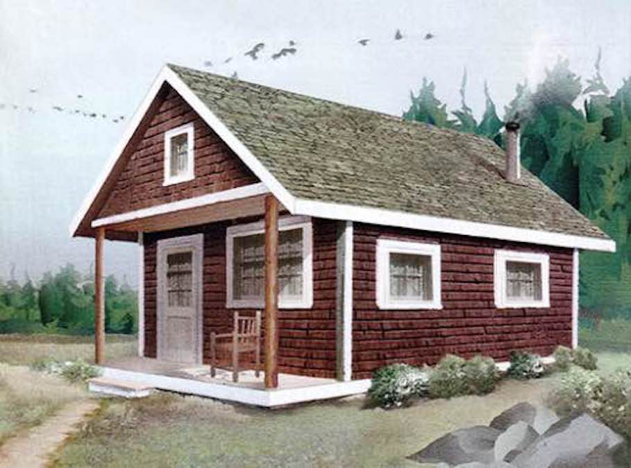 Free plans to build a Cozy Cabin.