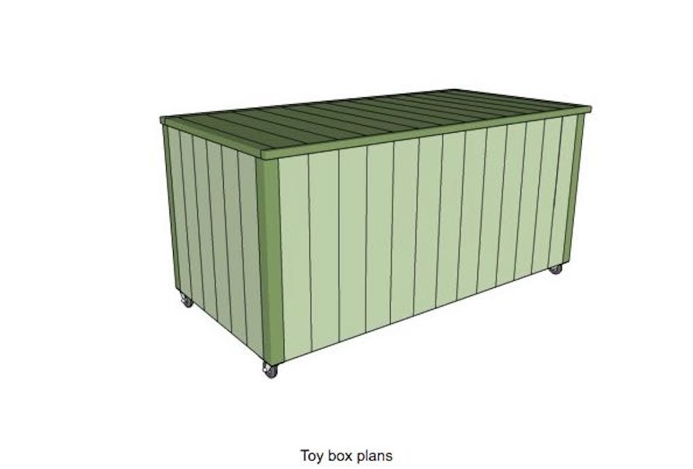 Free plans to build a Toy Box.
