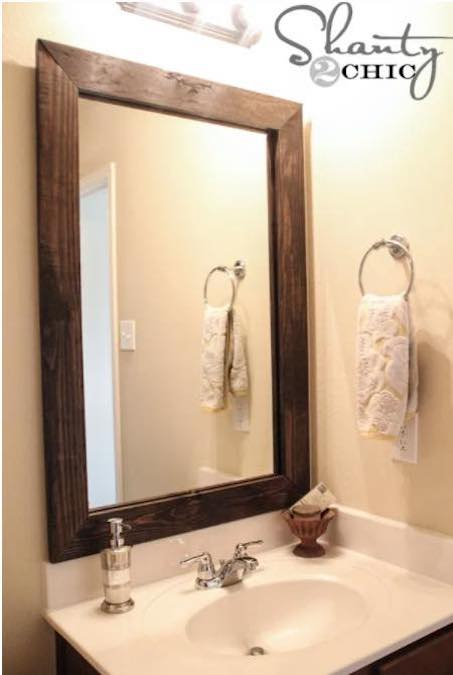 Build a Mirror Frame For Bathroom using free plans.