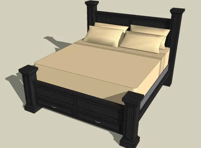 Four Post King Bed