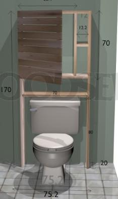 Build an Over the Toilet Cabinet.