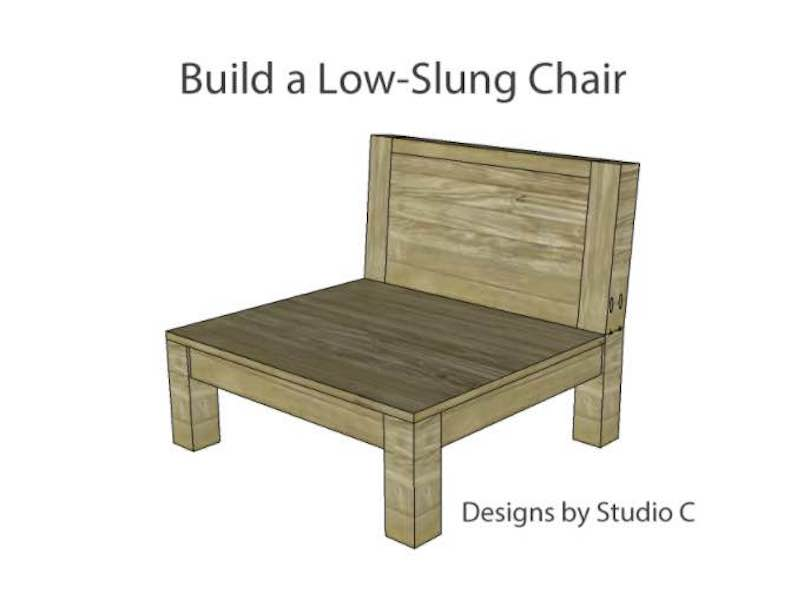 Free plans to build a Low Slung Chair.