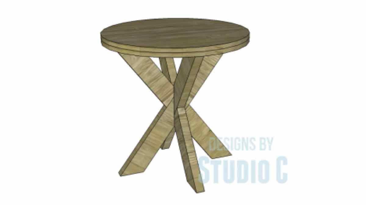 end tables,round,x base,furniture,diy,free woodworking plans,free projects,do it yourself