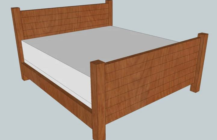 Free plans to build a King Size Bed.