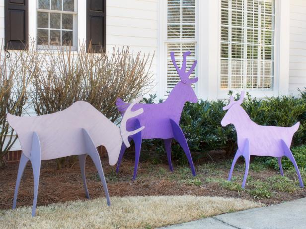 How to build a Reindeer Yard Art free project