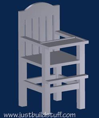 Build a Doll High Chair using free woodworking plans.