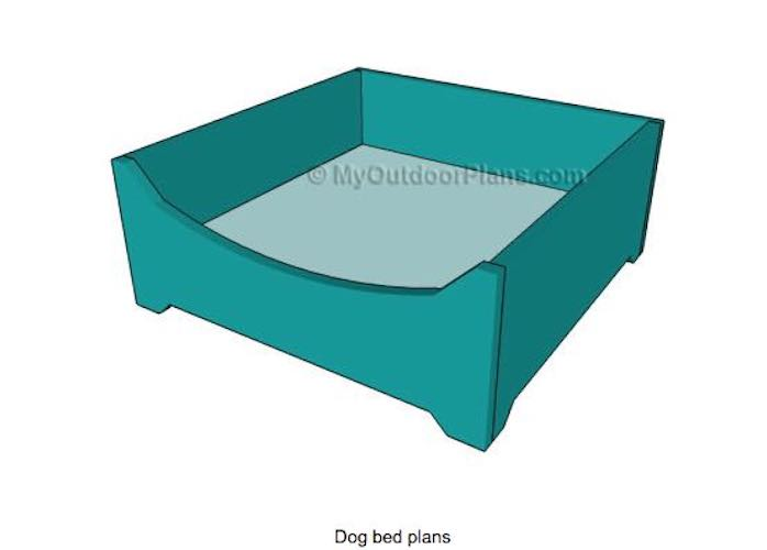 Build a Basic Dog Bed using free plans.