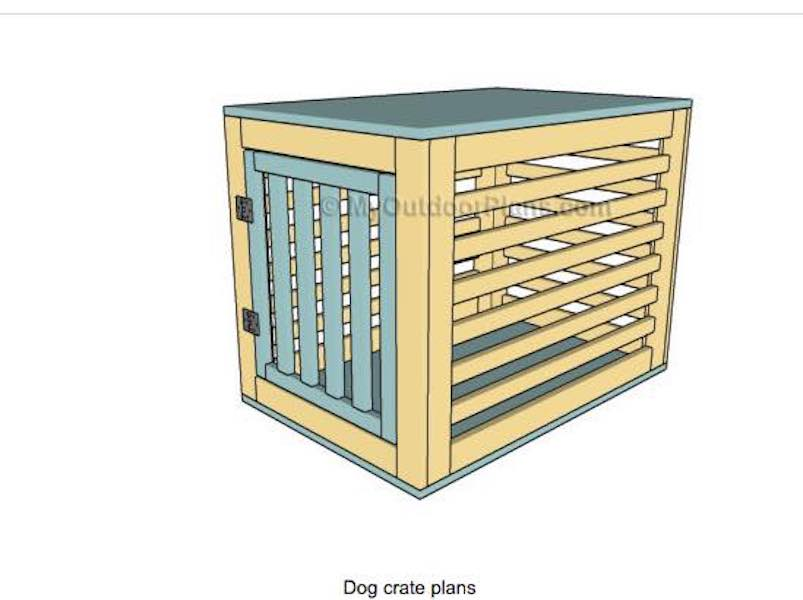 Free plans to help you Customize Your Dog Crate.