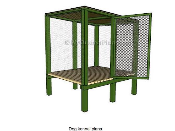 Build a Dog Kennel using free plans.