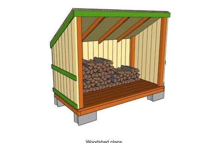 Backyard Firewood Shed