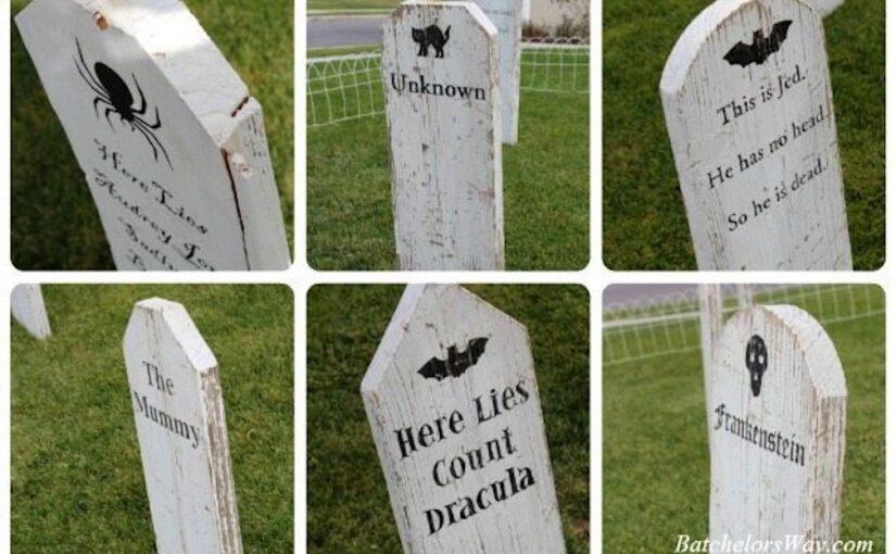 Tombstones for Halloween