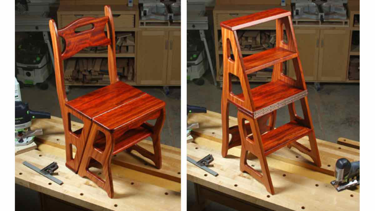 step stool,chair,furniture,diy,free woodworking plans,free projects,do it yourself