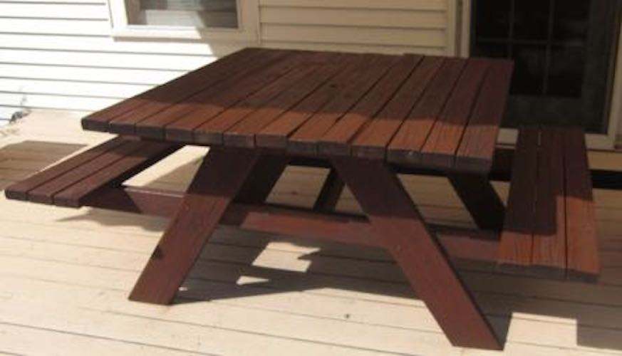 Build a Square Picnic Table using free plans.
