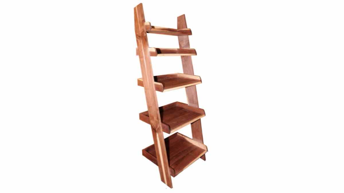 ladder shelves,storage,diy,free woodworking plans,free projects,do it yourself
