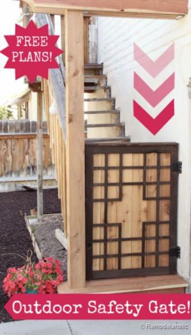 Build an Outdoor Baby Gate using free plans.