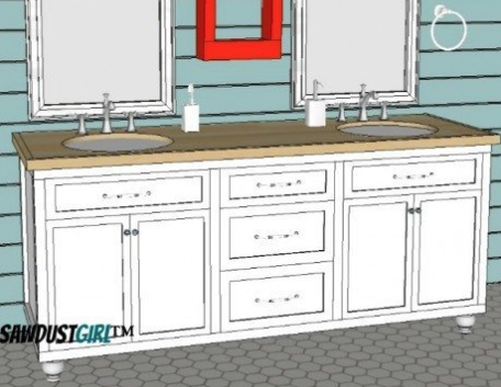 Build a double vanity with these free plans.