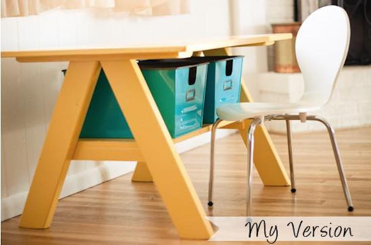 Free plans to build a Kids Table.